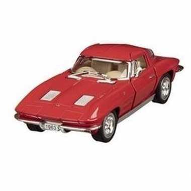 Goedkope modelauto chevrolet corvette rood