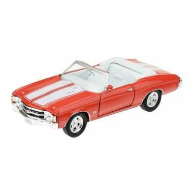 Goedkope modelauto chevrolet oldtimer chevelle rood :