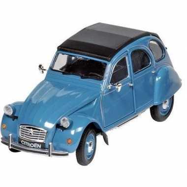 Goedkope modelauto citroen cv blauw/zwart ,