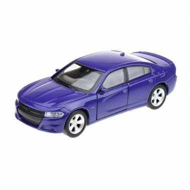 Goedkope modelauto dodge charger blauw :