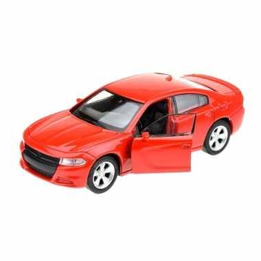 Goedkope modelauto dodge charger rood :