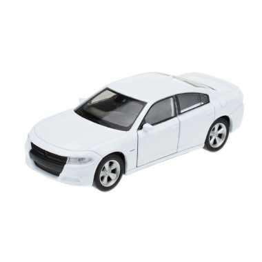 Goedkope modelauto dodge charger wit :