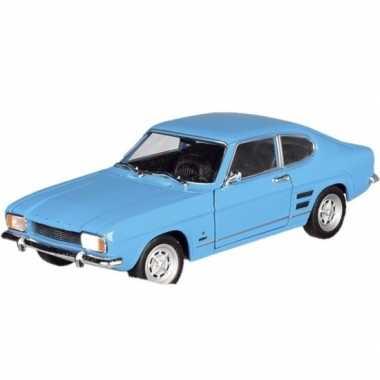 Goedkope modelauto ford capri blauw ,