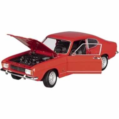 Goedkope modelauto ford capri rood ,