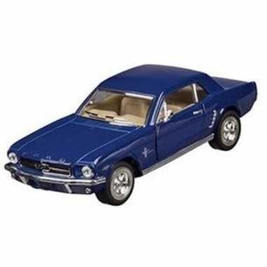 Goedkope modelauto ford mustang blauw
