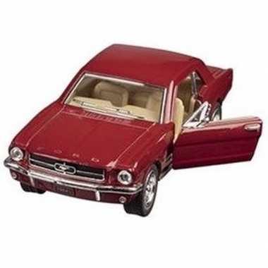 Goedkope modelauto ford mustang rood