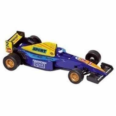 Goedkope modelauto formule wagen blauw