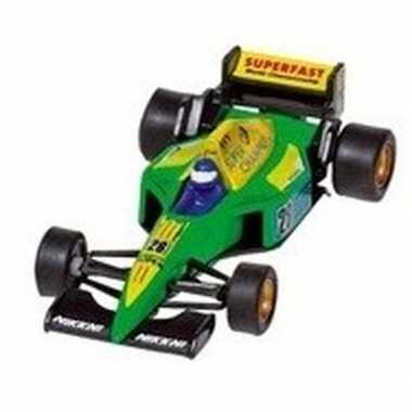 Goedkope modelauto formule wagen groen