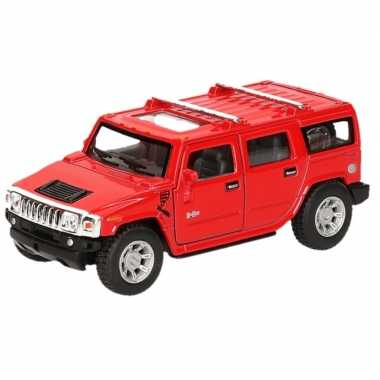 Goedkope modelauto hummer h suv rood ,