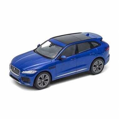Goedkope modelauto jaguar f pace blauw :