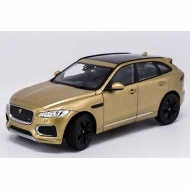 Goedkope modelauto jaguar f pace goudkleurig :