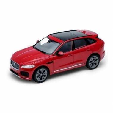 Goedkope modelauto jaguar f pace rood :