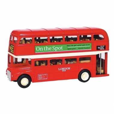 Goedkope modelauto london bus rood