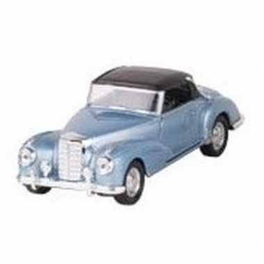 Goedkope modelauto mercedes benz s auto blauw ,