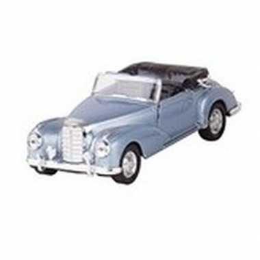 Goedkope modelauto mercedes benz s cabrio blauw ,