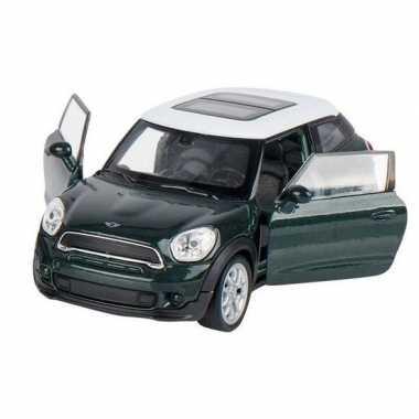 Goedkope modelauto mini cooper s paceman donkergroen