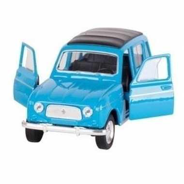 Goedkope modelauto renault blauw