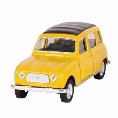 Goedkope modelauto renault geel