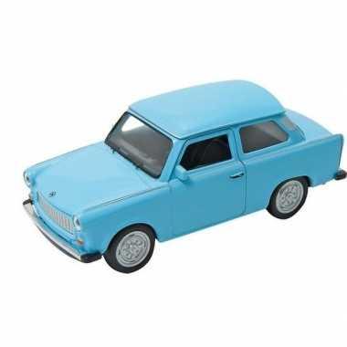 Goedkope modelauto trabant blauw