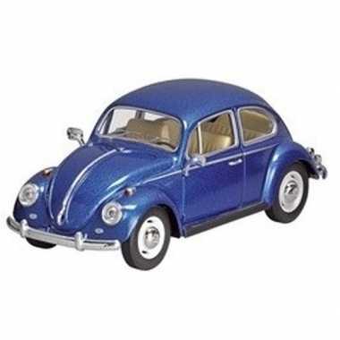 Goedkope modelauto volkswagen kever blauw
