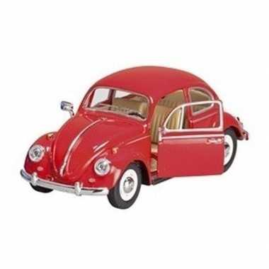 Goedkope modelauto volkswagen kever rood