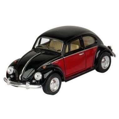 Goedkope modelauto volkswagen kever zwart/rood