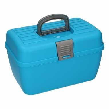 Goedkope multifunctionele opberg/sorteer box blauw