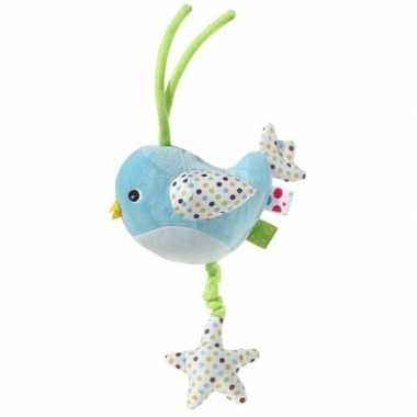 Goedkope muziek knuffel blauw vogel