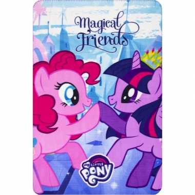 Goedkope my little pony friends fleece deken/plaid meisjes