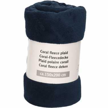 Goedkope nacht blauwe fleece deken