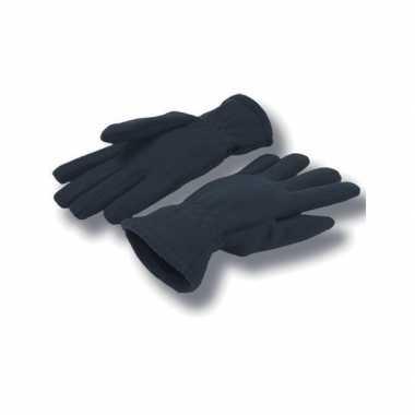 Goedkope navy fleece handschoenen volwassenen