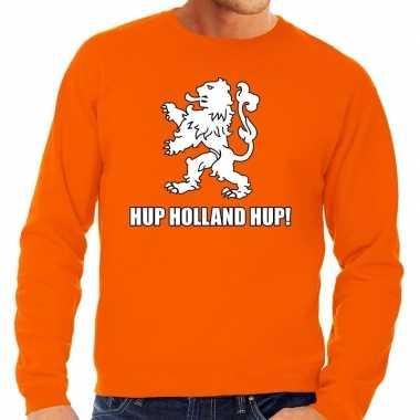 Goedkope nederland supporter sweater hup holland hup oranje heren