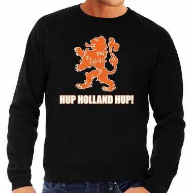 Goedkope nederland supporter sweater hup holland hup zwart heren