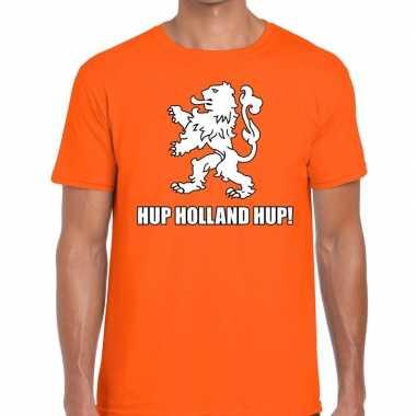 Goedkope nederland supporter t shirt hup holland hup oranje heren