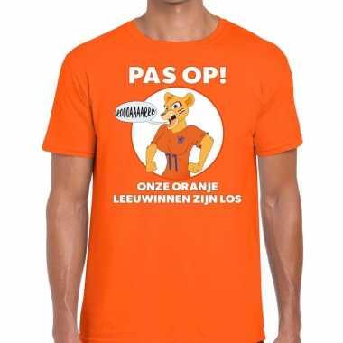 Goedkope nederland supporter t shirt leeuwinnen zijn los oranje heren