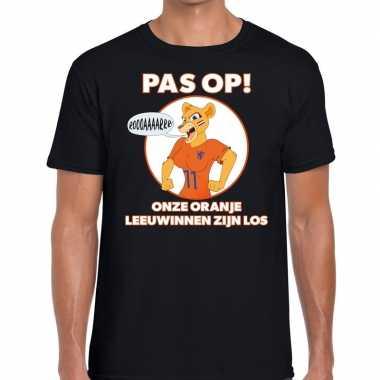 Goedkope nederland supporter t shirt leeuwinnen zijn los zwart heren