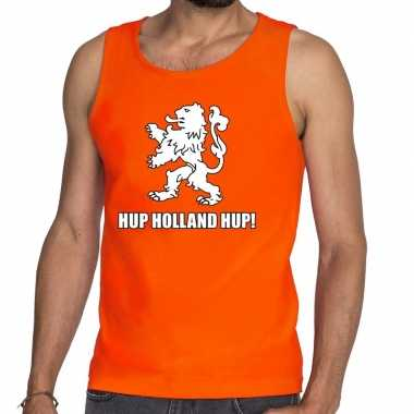 Goedkope nederland supporter tanktop hup holland hup oranje heren