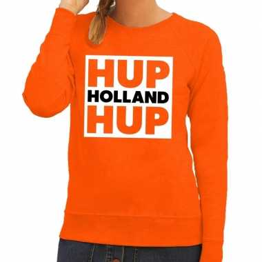 Goedkope nederlands elftal supporter sweater hup holland hup oranje