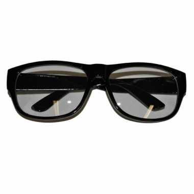 133335db7b604a Goedkope nerd bril zwart montuur