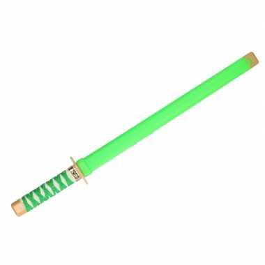 Goedkope ninja vechters zwaard verkleed wapen groen