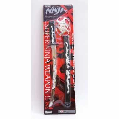 Goedkope ninja zwaard zwarte schede