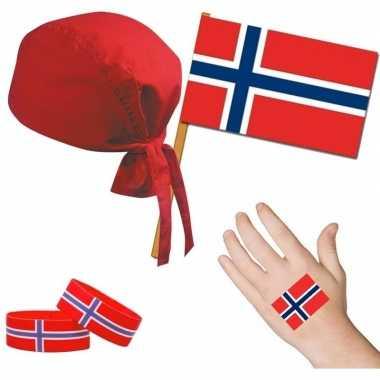 Goedkope norwegen/noors thema verkleed set volwassenen