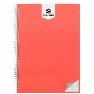 Goedkope notitieblok/lijntjes schrift a oranje