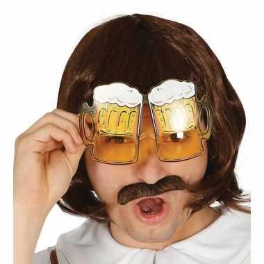Goedkope oktoberfest bier pullen verkleed bril volwassenen