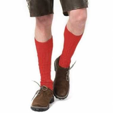Goedkope oktoberfest oktoberfest tiroler verkleed kousen rood volwass