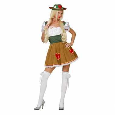 Goedkope oktoberfest tiroolse heidi kostuum