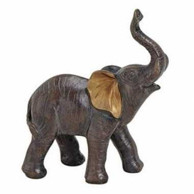 Goedkope olifant dieren beeldje bruin