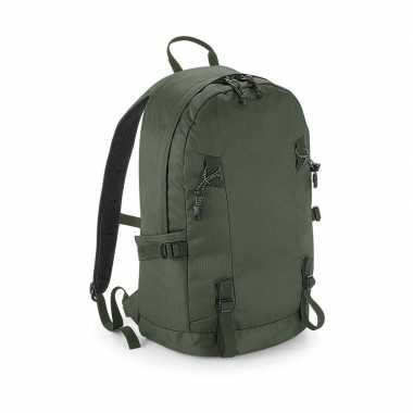 Goedkope olijf groene rugzak/rugtas wandelaars/backpackers liter