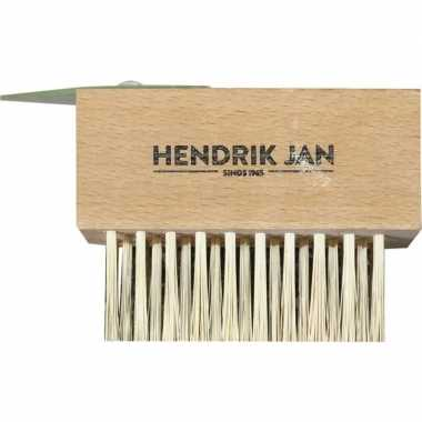 Goedkope onkruidborstel / voegenborstel hout schraper