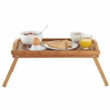 Goedkope ontbijt bed dienblad/tafeltje hout